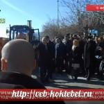 На пляже в Ялте премьер Крыма снёс забор (ВИДЕО)